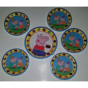 NEW 6 Peppa Pig Paper Plates Lot Birthday Party
